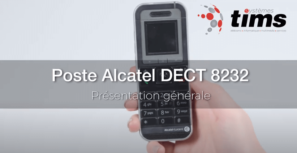 Poste Alcatel DECT 8232 - Présentation générale