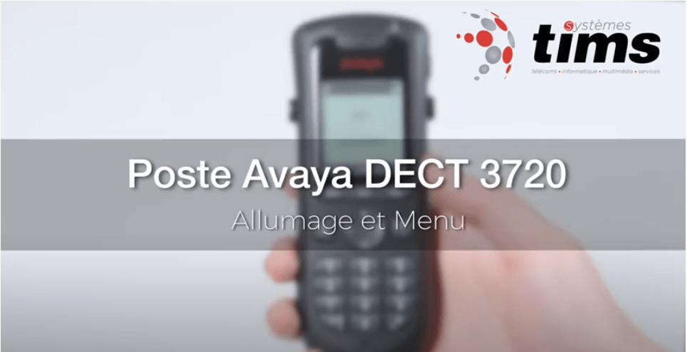 Poste Avaya DECT 3720 - Allumage et menu