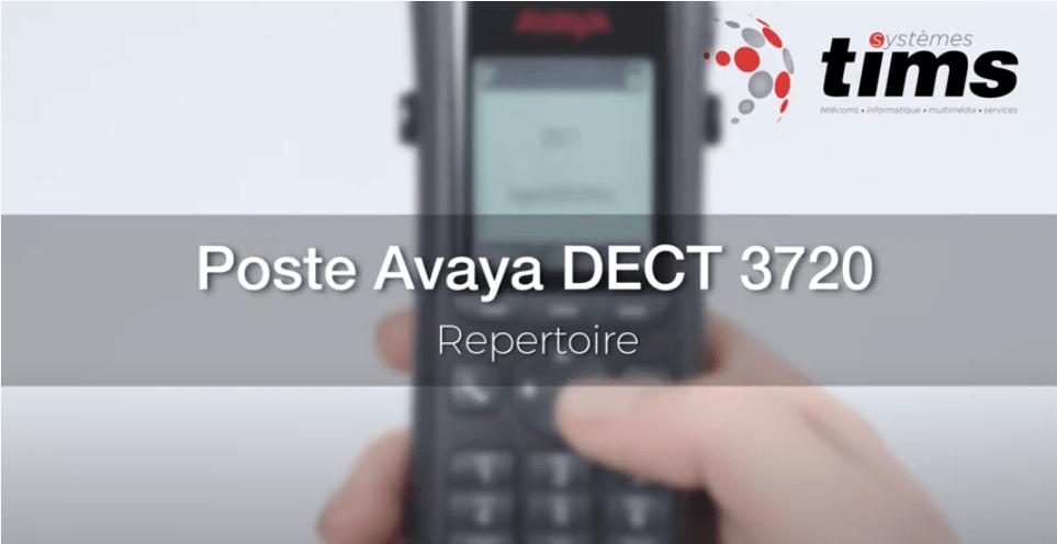 Poste Avaya DECT 3720 - Répertoire