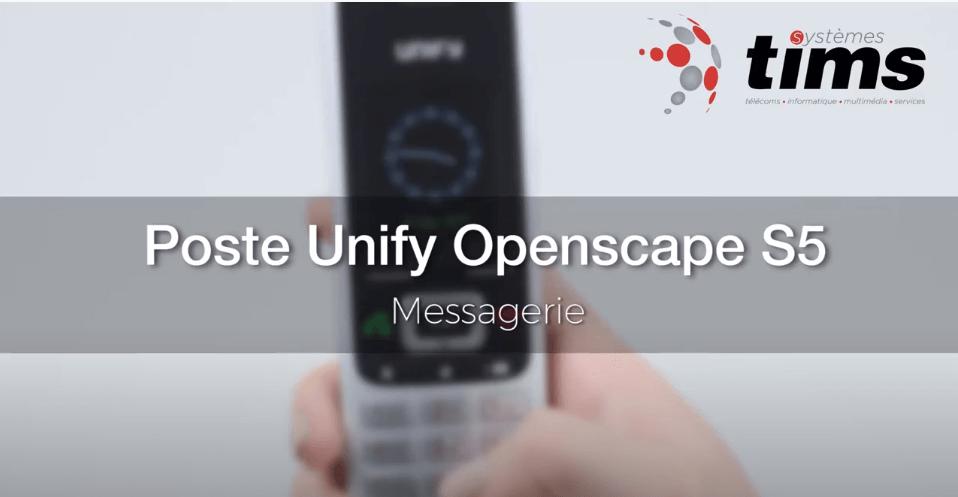 Poste Unify Openscape S5 - Messagerie