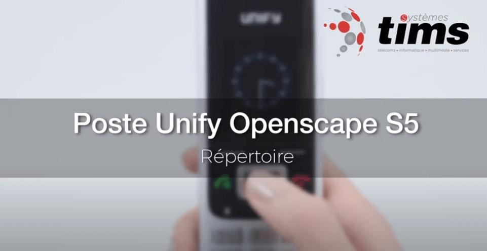 Poste Unify Openscape S5 - Répertoire