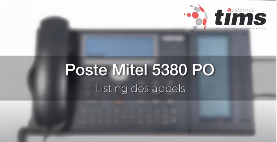 Mitel Aastra 5380 PO - Listing des appels