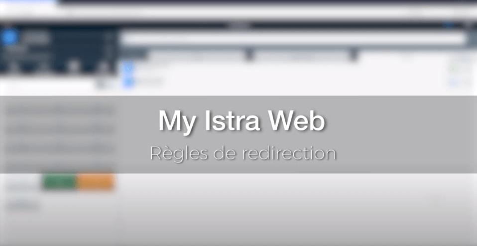 My Istra Web - Règles de redirection